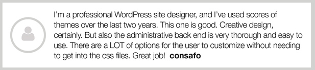 Minuscula - WordPress Theme - Testimonials