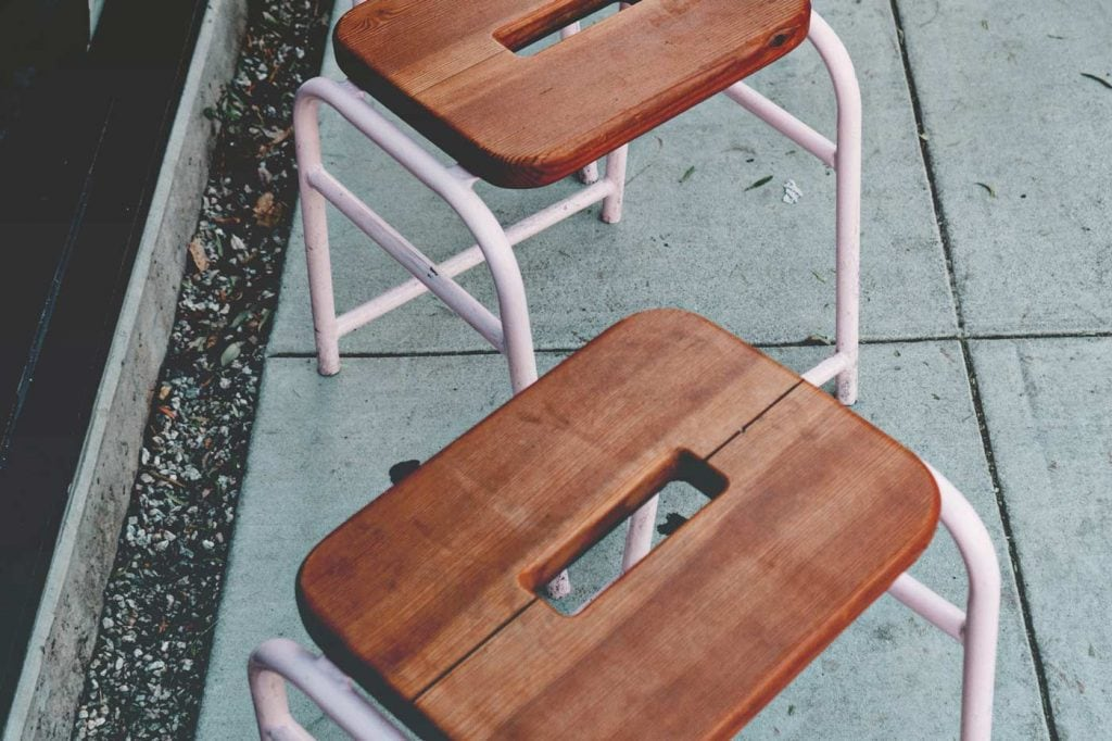 Jay Mantri - Wood Top Stools