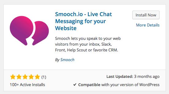 Smooch.io WordPress Plugin