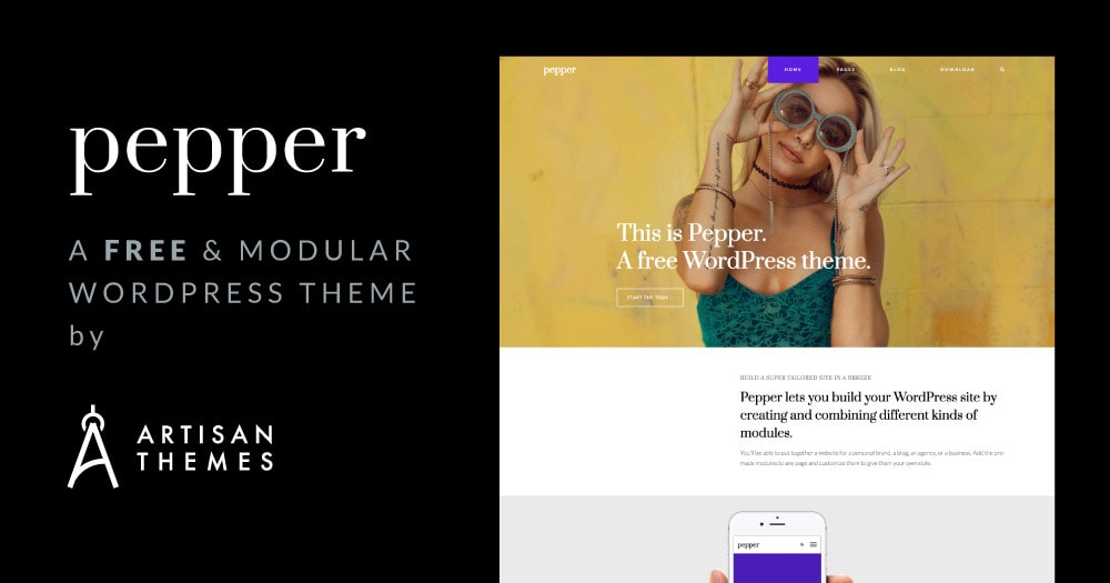 we re launching pepper a free modular wordpress theme artisan themes