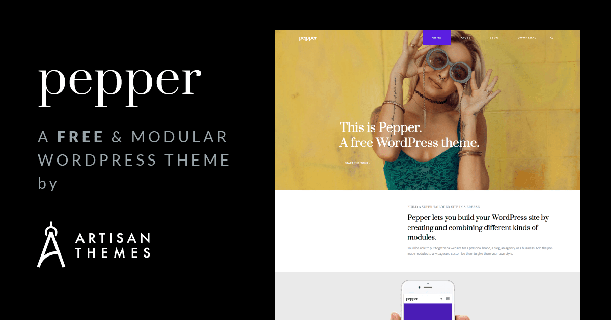 We're Launching Pepper: A Free Modular WordPress Theme - Artisan Themes