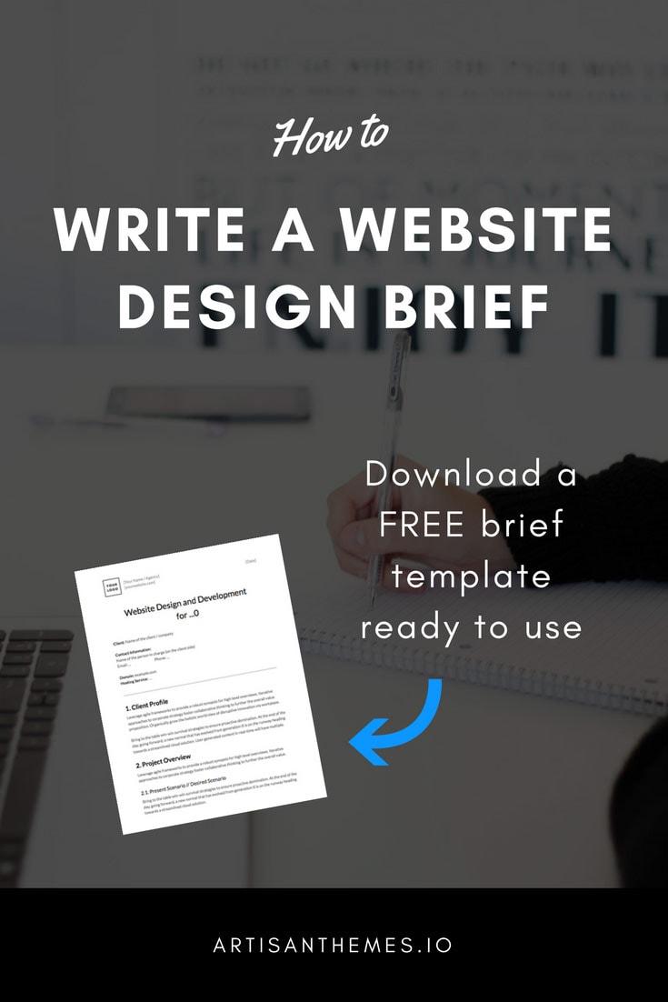 How To Write A Website Design Brief Artisan Themes