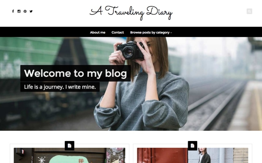Diary – By Nayma WordPress Theme