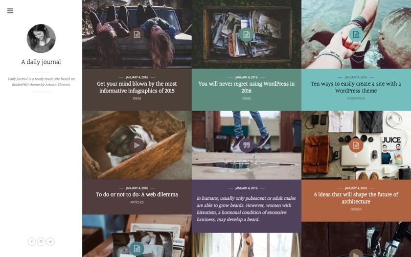 Journal – By Binder PRO WordPress Theme