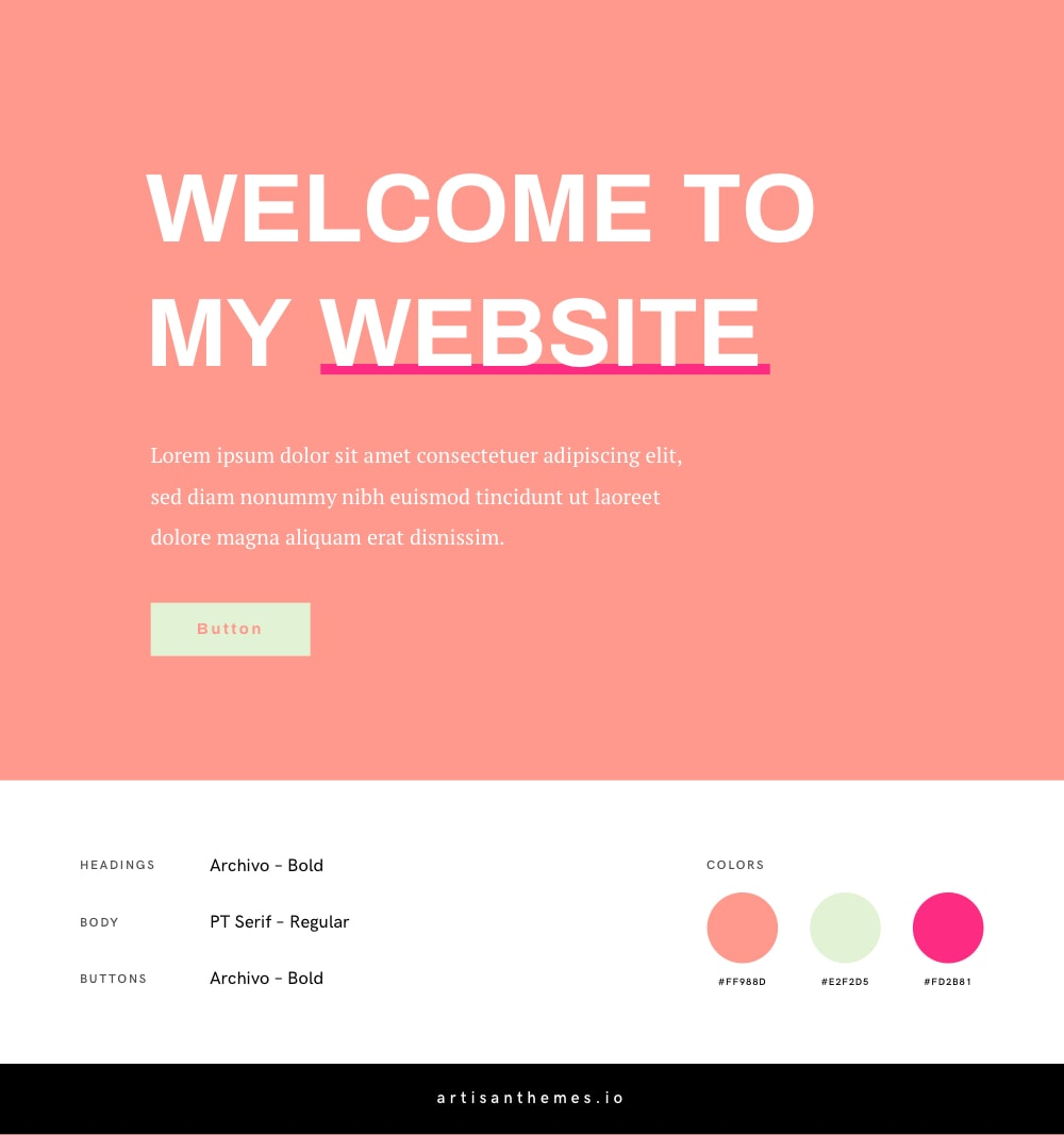 Google Fonts and Color Combination for a Feminine Website 18